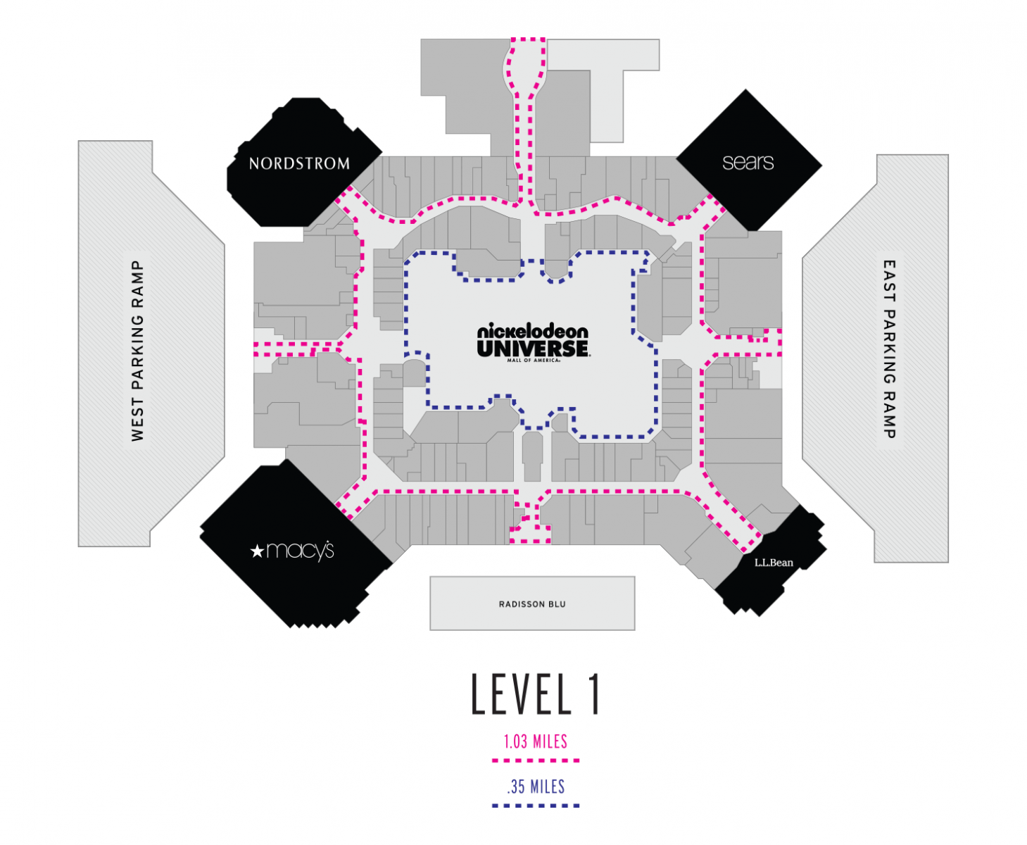 Level 1 Walking Map
