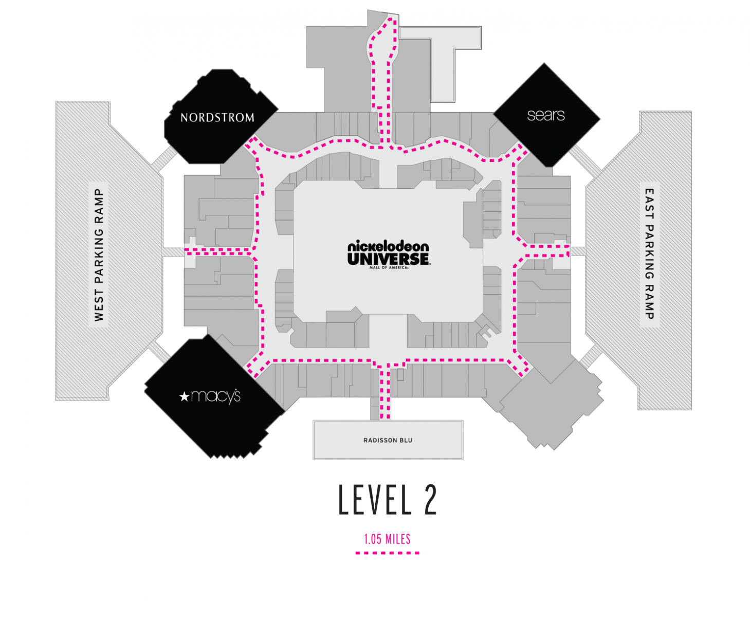 Level 2 Walking Map
