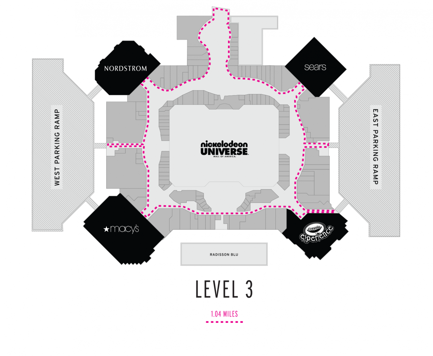 Level 3 Walking Map